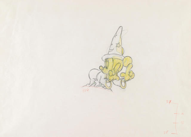 "A Walt Disney drawing from ""Fantasia"""