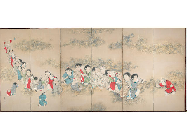 School of Nagasawa Rosetsu: Chinese Children at