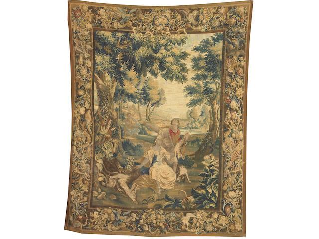 A Flemish Baroque mythological tapestry