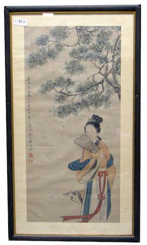 After Gu Jianlong (1606-After 1687): Beauty with fan