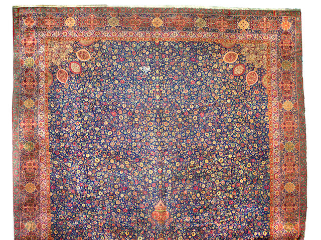 A Kashan carpet South Central Persia, Size approximately 35ft x 17ft 6in