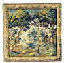 A Flemish Verdure tapestry Belgium, Size approximately 10ft 3in x 10ft