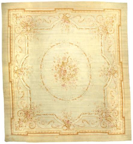 An Aubusson carpet France, Size approximately 12ft x 10ft