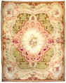 A Napoleon III Aubusson carpet fragment France, Size approximately 14ft 4in x 11ft 6in