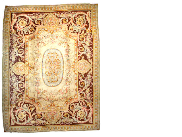 A Savonnerie carpet France, Size approximately 16ft 2in x 12ft 6in