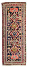 A Shirvan runner Caucasus, Size approximately 12ft 8in x 4ft 9in