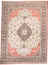 A Qum silk carpet Central Persia, Size approximately 13ft 7in x 10ft
