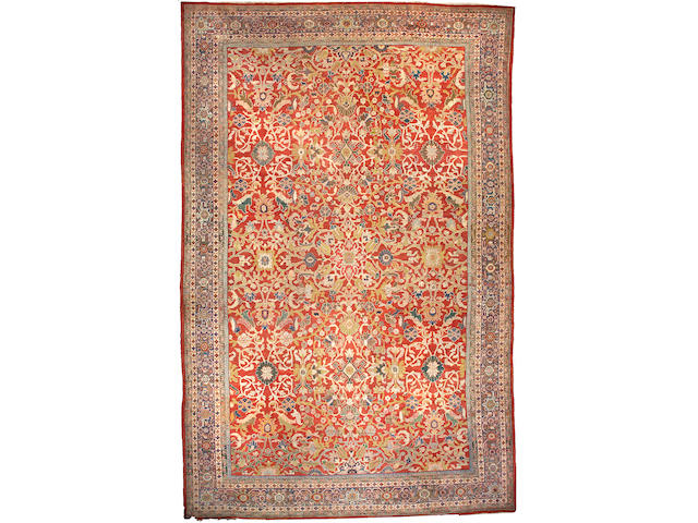 A Sultanabad carpet Central Persia, Size approximately 18ft 7in x 11ft 9in