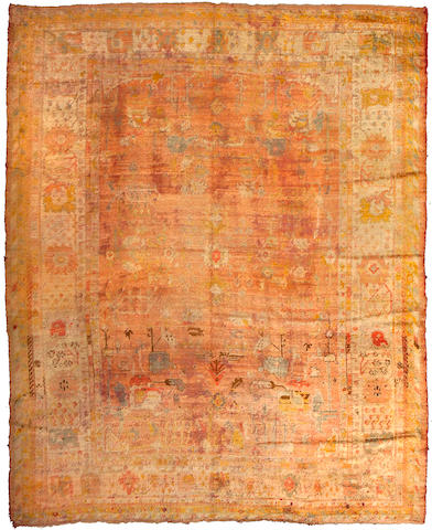 An Angora Oushak carpet West Anatolia, Size approximately 11ft 5in x 9ft 2in