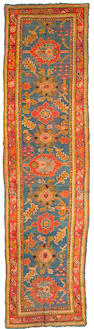 An Oushak runner West Anatolia, Size approximately 12ft x 3ft