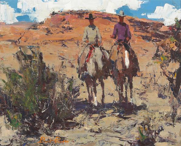 Burt Procter (1901-1980) Desert Riders 16 x 20in