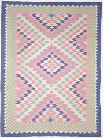 A Dhurrie rug India Size approximately 9ft x 6ft