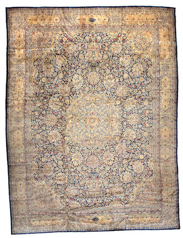 A Kashan carpet Central Persia, Size approximately 16ft 2in x 12ft 2in