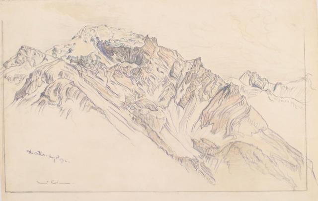 Samuel Colman (1832-1920) Landscape image 7 3/4 x 12in (19 x 30.5cm) unframed