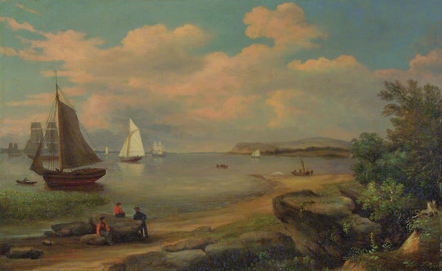 Thomas Birch (1779-1851) On the Delaware 15 1/4 x 24 1/2in (38.6 x 62cm)