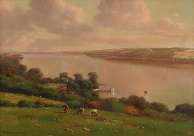 William Bruce (1861-1911) Hillside in New York 18 x 26in (45.8 x 66cm)