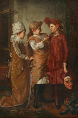 George Henry Story (1835-1923) Costume party 30 x 20in (76.2 x 50.8cm)