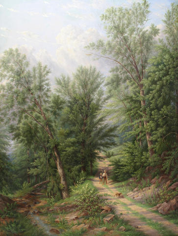 William Rickarby Miller (1818-1893) The woodland path 42 x 32in (106.6 x 81.4cm)