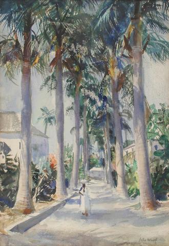 John Whorf (1903-1959) Jamaica, BWI 15 x 22in (38 x 56.5cm)