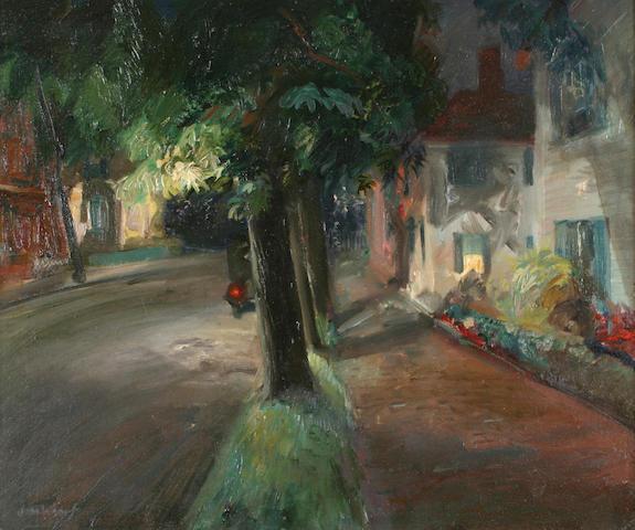 John Whorf (1903-1959) A quiet street 20 x 24in (51 x 61cm)
