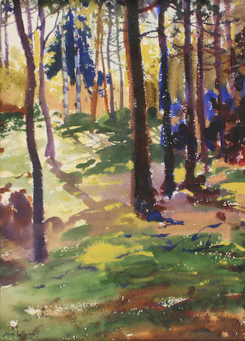 John Whorf (1903-1959) Sous Bois 14 1/2 x 10 1/4in