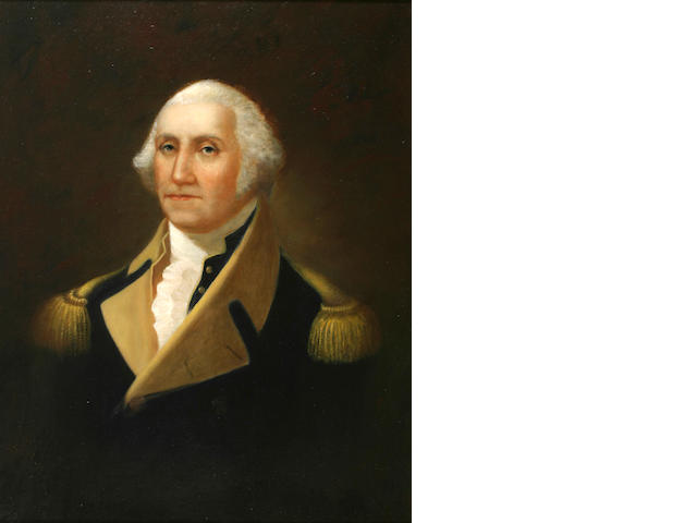 Frank Eastman Jones (19th Century) Portrait of General George Washington 34 x 26 1/2in (86.3 x 67.2cm)