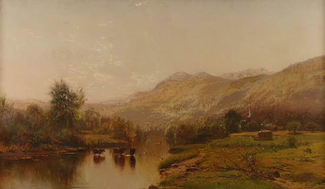 Arthur Parton (1842-1914) Scene on the Delaware 28 x 48in (71.2 x 122cm)