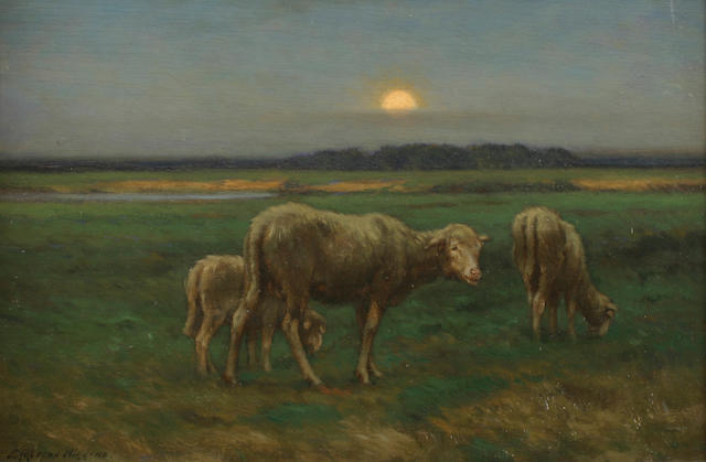 John Carleton Wiggins (1848-1932) Sheep 13 x 18in (33 x 45.8cm)