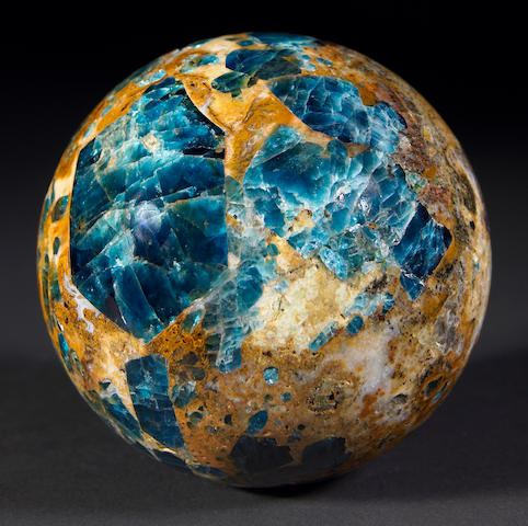 Apatite in Calcite Sphere