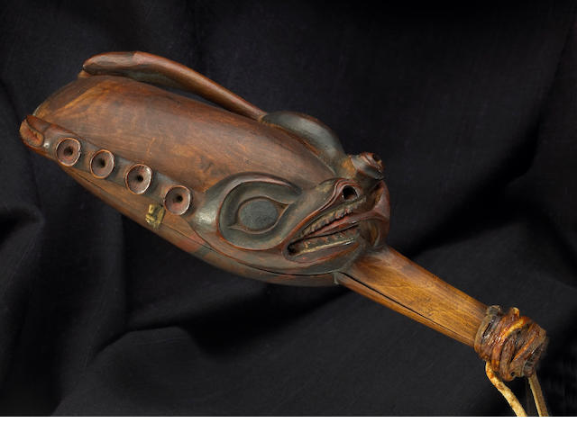 A fine and rare Tlingit shaman's rattle