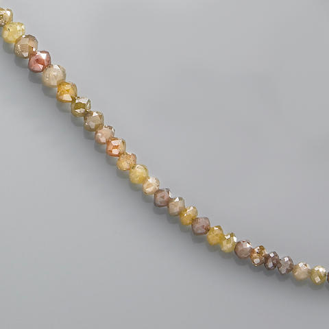 Multi-color Natural Diamond Bead Necklace