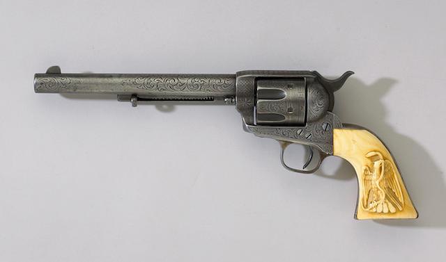 A Nimschke engraved Colt single action army revolver