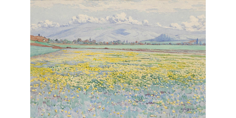 Gunnar Widforss (1879-1934) A Field of Wildflowers, 1914 sight 12 x 16in