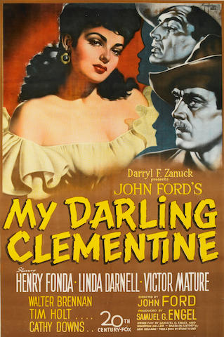 My Darling Clementine 42x29, Framed