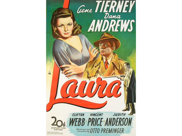 Laura, 1944, 29x42, framed