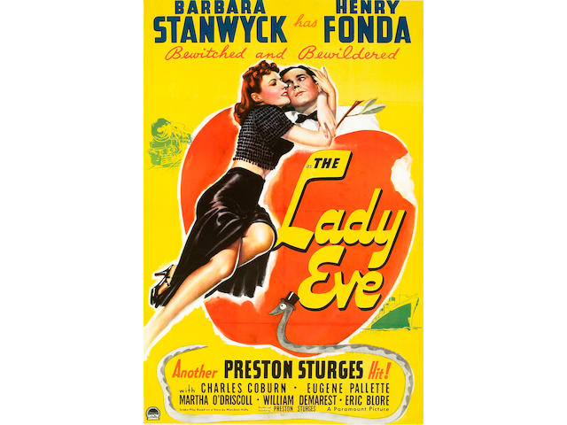 The Lady Eve, 1941, 27x41, framed