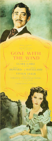 Gone With The Wind, 1939, 14 x 36, framed