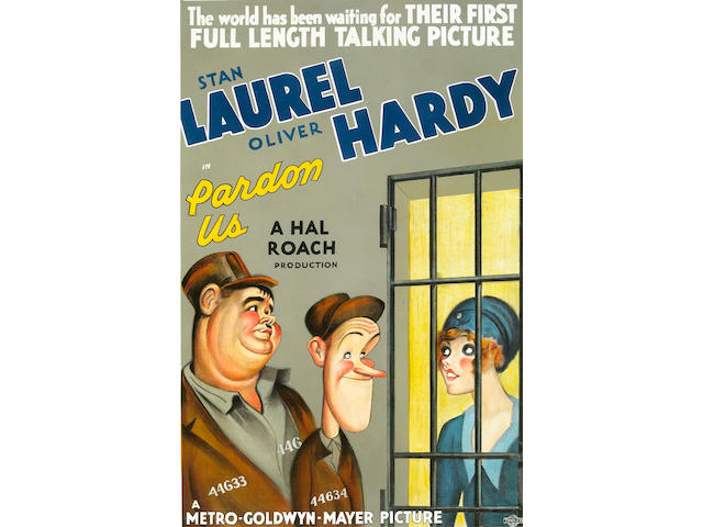 Pardon Us, 1931, 42x29, framed