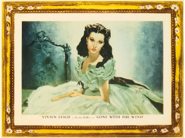 Gone With The Wind, 1939, LC (11 x 14), Vivian Leigh roadshow style, framed