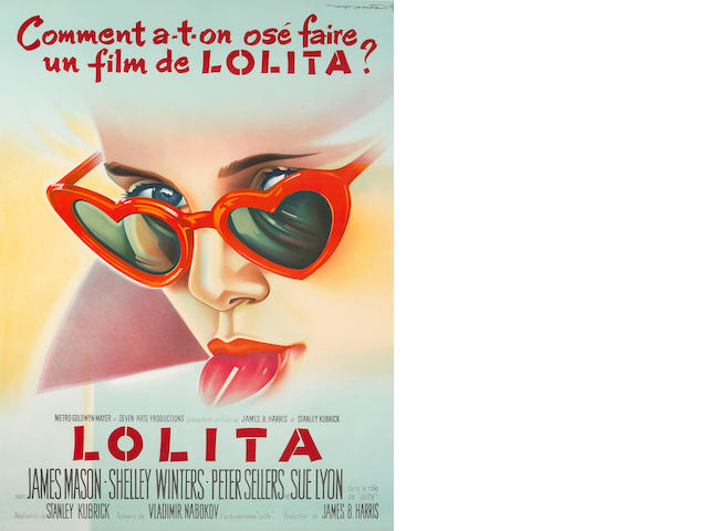 Lolita, 1962, large French (48x63), Framed