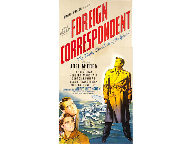 Foreign Correspondent, 1940, 81x43, framed