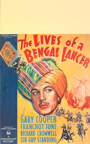 The Lives of a Bengal Lancer 1935, 23x15, Framed