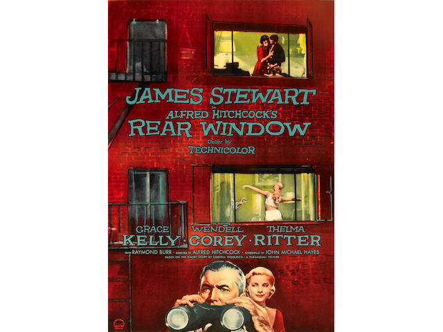 Rear Window, 1954, 27 x 41, framed