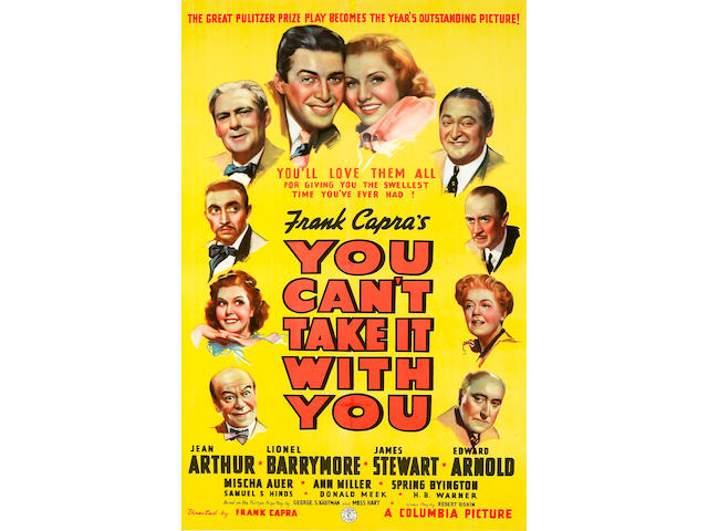 You Can't Take it With You, 1938, 27x41, framed