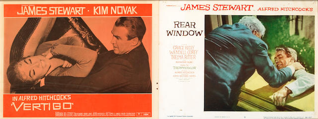 Rear Window, 1954, LC # 3 and #4 framed together to 12 x 28