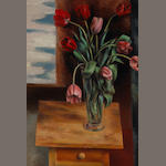 Andrew Dasburg (1887-1979) Tulips on a Table 30 x 20in