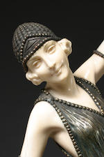 A rare and important carved ivory and cold-painted bronze: Ballets Russes