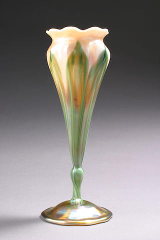 A Tiffany Studios Favrile glass floriform vase