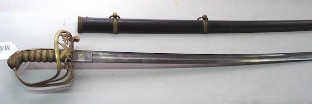 A variant Civil War foot officer's sword