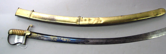 An American mounted artillery officer's saber